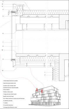 Wonk Architectes, Projex Ingénierie, Diagobat, Daniel Caucheteux. IF SANTE. Details roofs