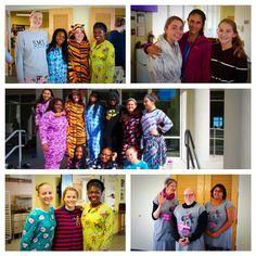 Kicking off spirit week with pajama day! #pjs #spiritweek #onesies #sillyscotties