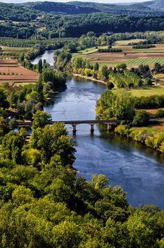 Dordogne winds below Domme by Glenn Marcus