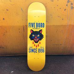 Danny Falla pro skateboard deck by 5Boro NY #skate #board #typography