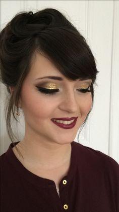 glitzer lidschatten makeup strakes abend make-up