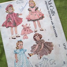 Vintage Doll Clothes Patterns | Vintage Sewing Pattern - DOLL CLOTHES - McCalls 1717 - Maggie and ...