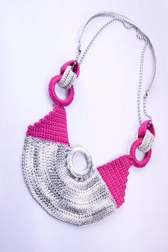 """crocheted necklace """"modern art"""""""