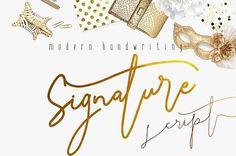 Signature Script Modern Handwriting