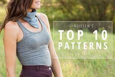 Indiesew's Top Ten Patterns in 2018 Hey June, Tunic Sewing Patterns, Top Pattern, Top Ten, Basic Tank Top, Blouses, Popular, Tank Tops, Diy