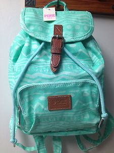 Victoria Secret Backpack | Victoria's Secret PINK Mini Backpack - Mint Aztec / Brand New With Tag ...