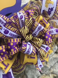 NCAA Officially Licensed LSU Tigers Repeater Silk Necktie