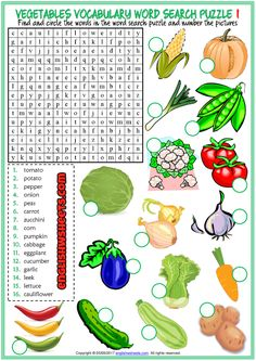 Nutrition And Dietetics Weather Vocabulary, Food Vocabulary, Vocabulary Worksheets, Worksheets For Kids, Vocabulary Words, Printable Worksheets, Vowel Worksheets, English Lessons, English Words