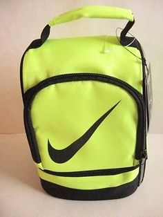 NIKE INSULATED DOME 2 ZIPPER COMPARTMENTS LUNCH TOTE BAG BOX Yellow Volt/Black $19.99