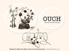 » Things You Wish You Hadn't Done On Valentines Day: Dream Noming . Panda and Polar Bear