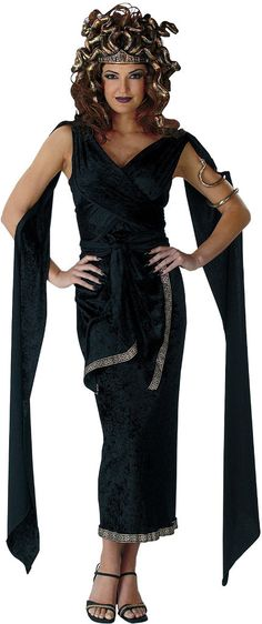 Looking for Adult Medusa Costume - Greek Mythology Costumes Party Supplies? We can connect you with adult medusa costume greek mythology costumes Halloween Costumes Party City, Goddess Halloween Costume, Hallowen Costume, Goddess Costume, Theme Halloween, Halloween Fancy Dress, Halloween Ideas, Halloween Makeup, Halloween 2014