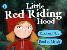 Little Red Riding Hood :: Nosy Crow :: iPad and iPhone :: Traditional tale with a twist. Storytime group can choose alternate endings and short activities along the way. There is a Read by Myself option, but it still includes ambient sound. In-app advertising for other Nosy Crow apps requires a tap and double swipe. :: 3+