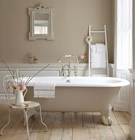 master bathrooms with shower and tub | ANTIQUE CLAW FOOT TUB