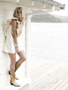 Cowgirl in ruffles.