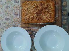 "Chicken ""Xilopetes"" (Greek pasta, square shaped)"