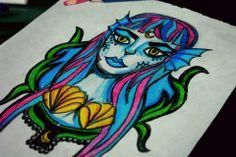 Mermaid design tattoo #Sirena #Sea #Cute #Girl