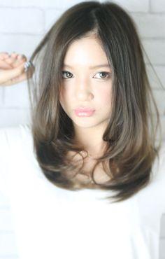 Brown Balayage, Balayage Hair, Medium Hair Styles, Short Hair Styles, Middle Hair, Mid Length Hair, Asian Hair, Dream Hair, Hair Highlights