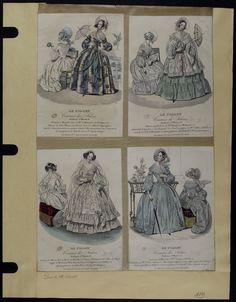 Mode. [XIXe siècle]. 1839 Robe