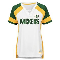 MAJESTIC GREEN BAY PACKERS NFL DRAFT ME LACE T-SHIRT 288c15c92