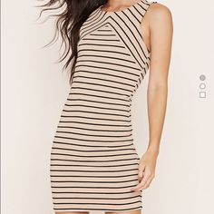 Forever 21 ribbed knit striped dress Brand new with tags, stretchy and great for a night out or casual wear. Forever 21 Dresses Mini