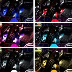 💕Colorful Variety Of Mode Selection- 16 colors and four flicker modes RGB LED car interior lighting Kit, With the built-in remote control, you can e Neon Lighting, Strip Lighting, Interior Led Lights, Car Gadgets, Remote Control Cars, Future Car, Car Accessories, Super Cars