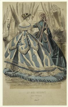 In the Swan's Shadow: Peterson's Magazine, October 1865  Civil War Era Fashion Plate