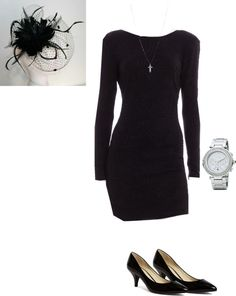 """""""Funeral Outfit"""" by slherman on Polyvore"""