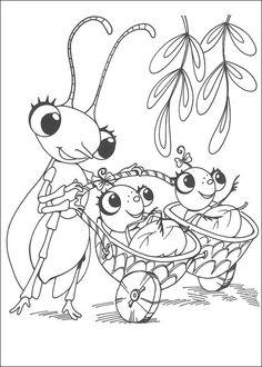 Miss Spider Fargelegging for barn. Tegninger for utskrift og fargelegging nº 12