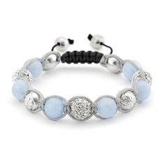 Aquamarine Shamballa Bracelet