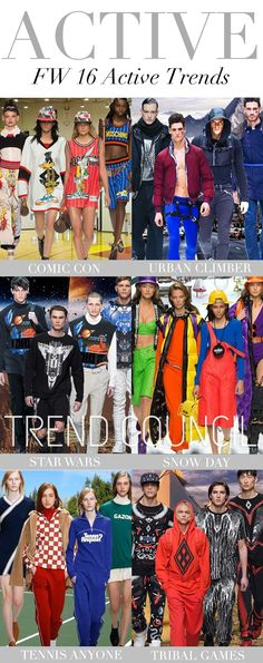 TRENDS // TREND COUNCIL . ACTIVE TRENDS - F/W 2016