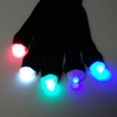 GloFX Glacier Melt Glove Set. LED Gloves Light Show by GloFX