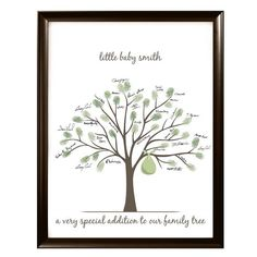Having your guest leave their fingerprint and signature at your baby shower will leave you with a beautiful piece of artwork to display in your nursery.