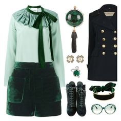A fashion look from December 2016 featuring green top, long jacket and velvet shorts. Browse and shop related looks. Blazer With Jeans, Personal Image, Smart Styles, Emerald Isle, Emilio Pucci, Playing Dress Up, Plus Size Outfits, Polyvore Fashion, Alexander Mcqueen