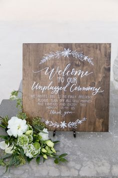 """Turn off phones"" wedding sign California Wedding Venues, Palm Springs, Southern California, Wedding Signs, Phones, Presents, Wedding Photography, Invitations, Wedding Plates"