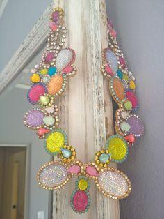 Doloris Petunia, one of a kind necklace