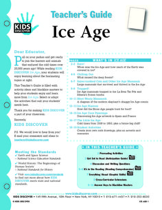 This free Lesson Plan for Kids Discover Ice Age will help you teach kids about what caused the last ice age, what relics of it have appeared in modern times, and what the world was like for Ice Age mammals, including humans.