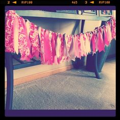 Fabric Garland - tables or back drop (Crisscrossed)