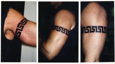 Greek Key Armband Tattoo Design
