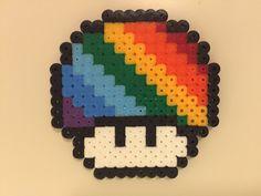 perler bead mushroom Rainbow