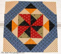 Friends and Companions SAL - Block 1 -Heartspun Quilts ~ Pam Buda