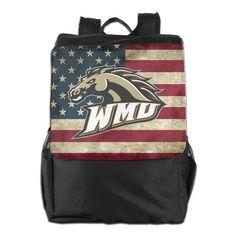 Men Women WMU Broncos Mascot Backpack Travel Backpack Daypack Rucksack > Huge discounts available  : Day backpacks