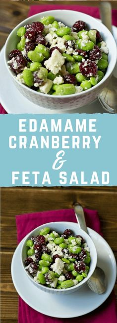 This Edamame Cranberry Feta Salad was inspired by a dish I found at Fresh Market. It's healthy, delicious and perfect for the holidays!