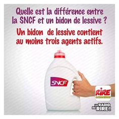 Difference between SNCF and laundry in a can, - Satire Humor, Funny French, Funny Quotes, Funny Memes, Image Fun, Wtf Funny, Hilarious, Laugh Out Loud, Dumb And Dumber