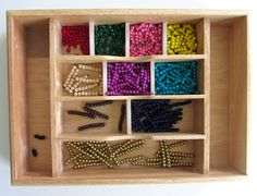 DIY Montessori Math Beads - it never would have occurred to me to make these!