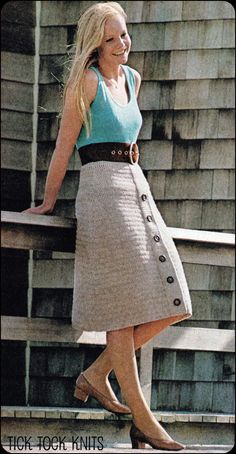 No.118 Vintage Crochet Pattern PDF Women's High by TickTockKnits