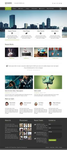 Quark, Premium WordPress Responsive Business Theme