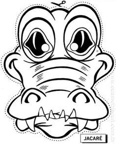 Gorilla mask templates including a coloring page version
