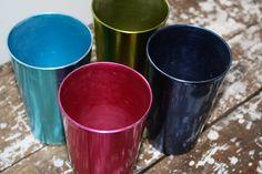 Vintage Aluminum Glasses Metallic Aluminum by VintageShoppingSpree, $25.00