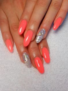 Best Beauty Nails Part 9 Sexy Nails, Stiletto Nails, Cute Nails, Pretty Nails, Nagel Hacks, Oval Nails, Hair Skin Nails, Orange Nails, Cute Nail Designs