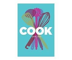 Affiche COOK WITH LOVE, turquoise - 30*42